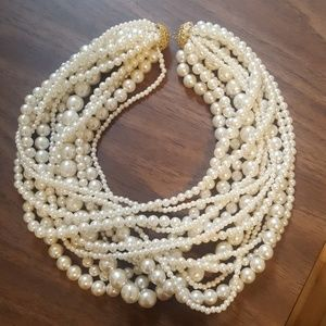 Costume jewelry pearl necklaces